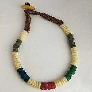 Vintage Men's Bone Bead Bracelet